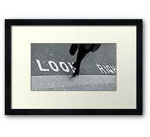 """Look Right!"" Framed Print"