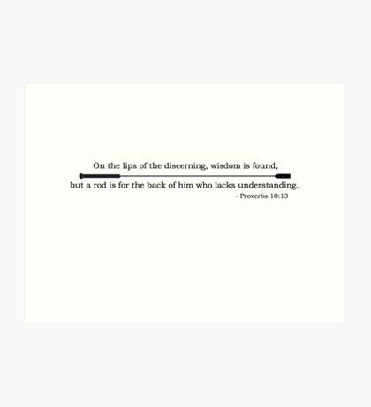 Proverb Art Print