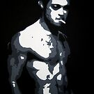 Brad Pitt in Fight Club by Dan Carman