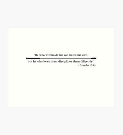Provebs 2 Art Print