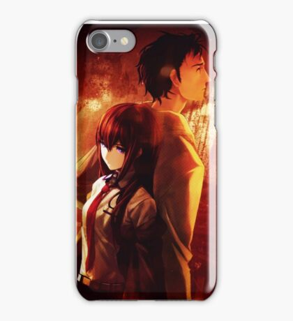 Okabe Rintaru Makise Kurisu Steins Gate iPhone Case/Skin