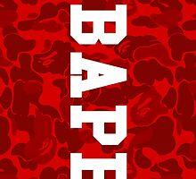 All Red Bape Camo by bradjordan412