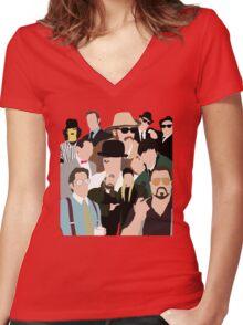 Cult Cinema Women's Fitted V-Neck T-Shirt