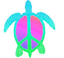 Rainbow Peace Turtle by rachels1689