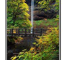 Card: South Falls Bridge - Autumn 2009 by USGolfers