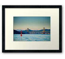 Rande Bridge, Galicia, Spain Framed Print
