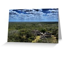 Ek' Balam - view from the temple top Greeting Card