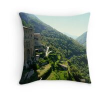 Subiaco: Italian monastery in the mountains Throw Pillow