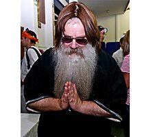 Rabbi in Purim fancy dress Photographic Print