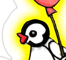 pingu's friend yellow glow Sticker