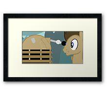 Dr Whooves Framed Print