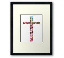 Floral Cross Framed Print