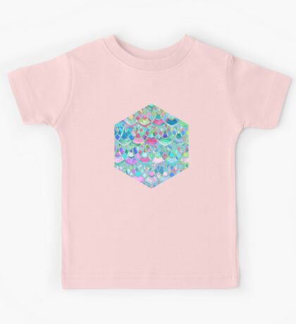 Art Deco Watercolor Patchwork Pattern 2 Kids Tee