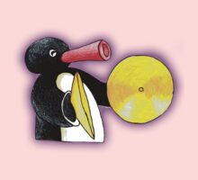 pingu and his music One Piece - Short Sleeve