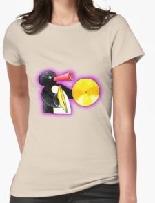 pingu and his music Womens Fitted T-Shirt