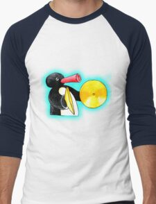 blue pingu Men's Baseball ¾ T-Shirt