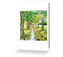 Walk in Hagley Park Greeting Card