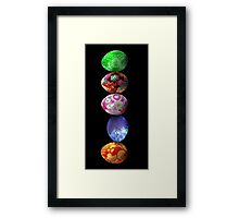 colorfull eggs Framed Print