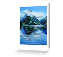 Mitre Peak, Milford Sound, NZ Greeting Card