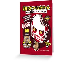 Colossal Ice Cream Greeting Card