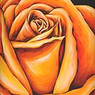 Orange Rose by Ira Mitchell-Kirk