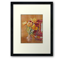 Jade and Tulips Framed Print