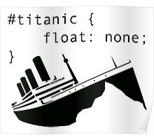 Titanic in CSS computer code Poster