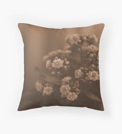 Sepia Blossom Throw Pillow