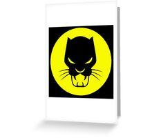 Black Panther Stkr-1 Greeting Card