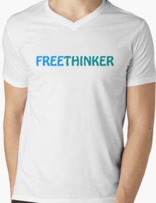 Freethinker Mens V-Neck T-Shirt