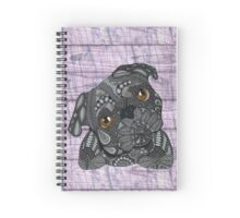 Black Pug Spiral Notebook