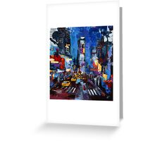 Saturday night in Times Square Greeting Card