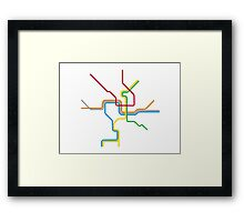 The District Framed Print