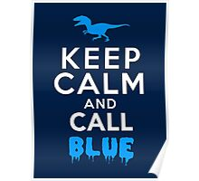 Keep Calm and Call Blue | Raptor Poster