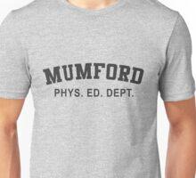 Beverly Hills Cop Mumford T-shirt Axel Foley Phys Ed Dept Detroit 80s vintage retro Unisex T-Shirt