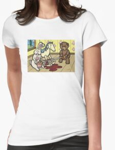 Teddy Bear and Bunny - The Price Of Freedom Womens Fitted T-Shirt
