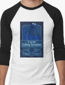 C is for Cutting Education Men's Baseball ¾ T-Shirt