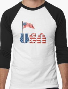 USA Patriotic Flag and Fireworks T-Shirt