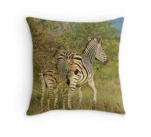 Mom and Baby Zebra Throw Pillow