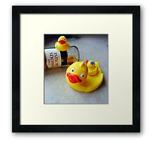 Momma, Momma, quick, look - Dilys is on the booze again! Framed Print