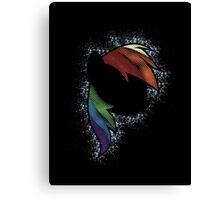 Particle Dash - Rainbow Dash (Shade) Canvas Print