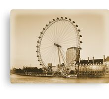 London Eye in all her Glory  Canvas Print