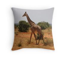 Giraffe Of Kenya Throw Pillow