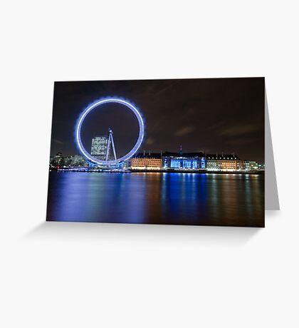 Blue London Greeting Card
