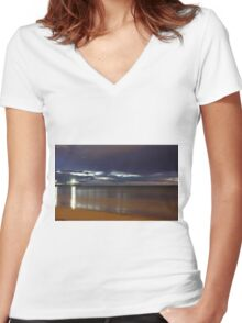 Henley Jetty Women's Fitted V-Neck T-Shirt