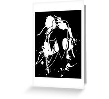 Inked Dash - Black Ink Design Greeting Card