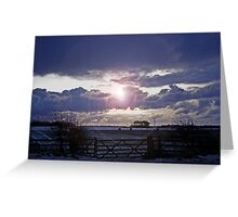 Moody Winter Sky Greeting Card
