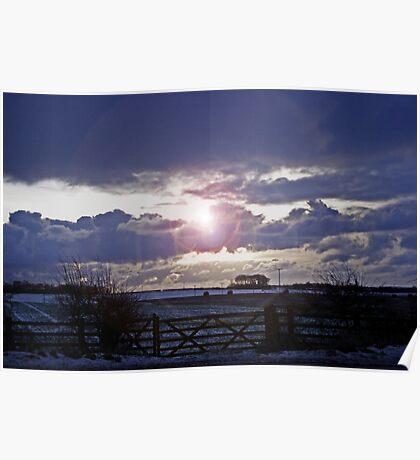 Moody Winter Sky Poster