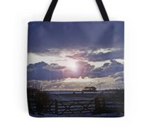 Moody Winter Sky Tote Bag