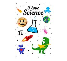 I Love Science (black version) Photographic Print